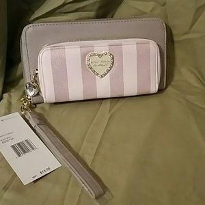 Betsey Johnson Zip Around Wallet/Wristlet